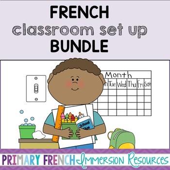 French classroom set up BUNDLE