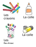 French classroom supply labels - editable