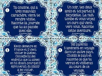 French clip cards - Cartes à tâche d'écriture