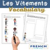 FRENCH clothes ~ LES VÊTEMENTS ~ 10 fun worksheets!