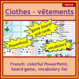 French - clothes, vetements: dice game, practice speaking