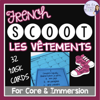 French clothing and colors scoot game