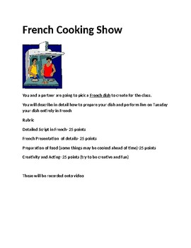 French Cooking Show Project