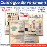 French clothing unit catalog project - Catalogue de vêtements Online Store