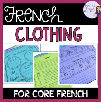 French clothing vocabulary activities and puzzles