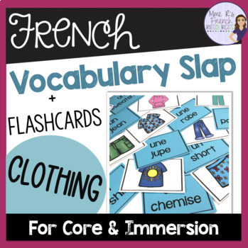 French clothing vocabulary game/jeu de vocabulaire- les vêtements