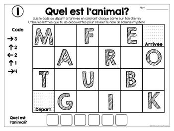 French coding-Introduction au codage-Les Animaux