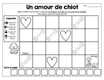 French coding:introduction au codage-La Saint-Valentin