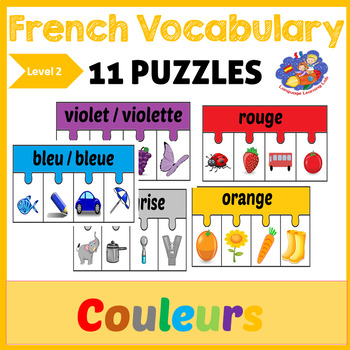 French color jigsaws - les couleurs - French immersion!
