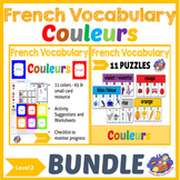 French colors - Vocabulary Bundle - French Immersion Level