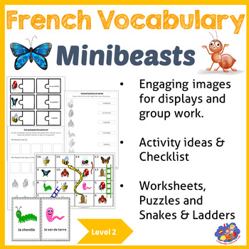 French Minibeast Vocabulary - French immersion!