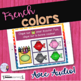 French colors listening activity BOOM CARDS