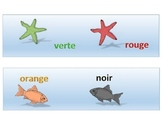 Bulletin board boarders French colors m/f - poisson et éto