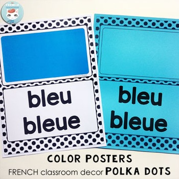 French colors | numbers | 2D shapes POSTERS POLKA DOTS