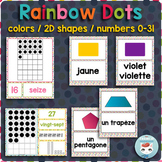 French colors | numbers | 2D shapes POSTERS | RAINBOW DOTS