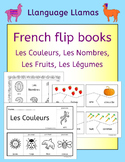 French colors, numbers, fruit, vegetables - fun flipbooks