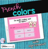 French colors  task cards - Boom cards - les couleurs