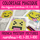 French colour by number Coloriage Magique 1-10, 1-20, 1-100