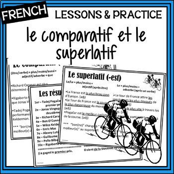 French – comparatif/superlatif with the Tour de France