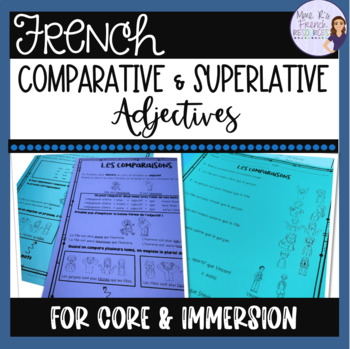 French comparative and superlative adjectives LES ADJECTIFS