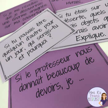 French speaking activity - conditional speaking task cards/ le conditionnel