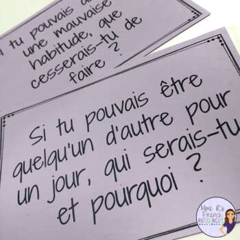 French speaking activity CONDITIONAL TASK CARDS LE CONDITIONNEL
