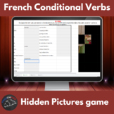 French conditional verbs - Hidden pictures game