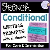 French conditional writing prompts/sujets d'écriture pour le conditionnel