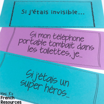French conditional writing prompts/sujets d'écriture pour le conditionnel