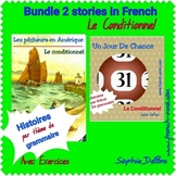 French reading - Conditionnel - Bundle of 2 stories/dialogues with exercises