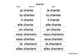 French conjugation Présent 1st group
