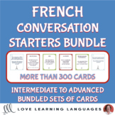French conversation starter cards bundle - Intermediate to