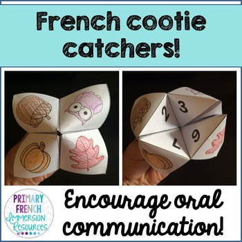French cootie catchers / fortune tellers!