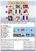 French countries and nationalities for beginners booklet
