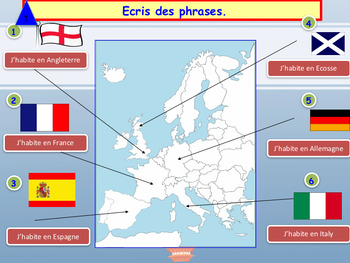 French countries and nationalities, les pays et nationalités PPT for beginners