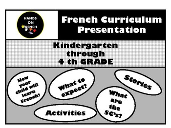 French curriculum presentation - Back to school