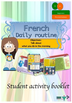 French daily routine in the morning, ma routine booklet fo