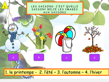 French days, months, seasons, les jours, les mois, les saisons PPT for beginners