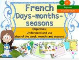 French days, months, seasons interactive activities