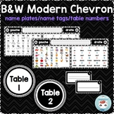 French desk name plates | name tags | table numbers MODERN CHEVRON