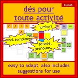 French immersion and core French dice: various faces + bla