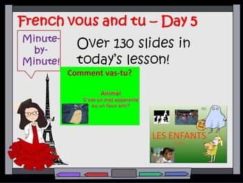French difference between vous and tu and taking leave lesson Day 5
