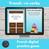 French digital game - RE verb conjugation