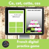 French digital game - ce, cet, cette, ces