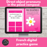 French digital game - direct object pronouns in the passé composé