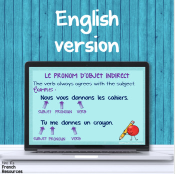 French direct and indirect objects PowerPoint COMPLÉMENT D'OBJET DIRECT INDIRECT