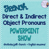 French direct and indirect objects PowerPoint COMPLÉMENT D