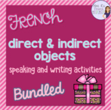 French direct and indirect objects bundle COMPLÉMENT D'OBJET DIRECT ET INDIRECT