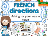 French directions in town, les directions dans la ville PPT for beginners