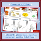 French, en français - Winter Logic Puzzle: problem solving, thinking skills